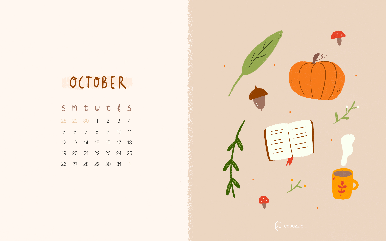October Calendar Wallpaper Edpuzzle Blog